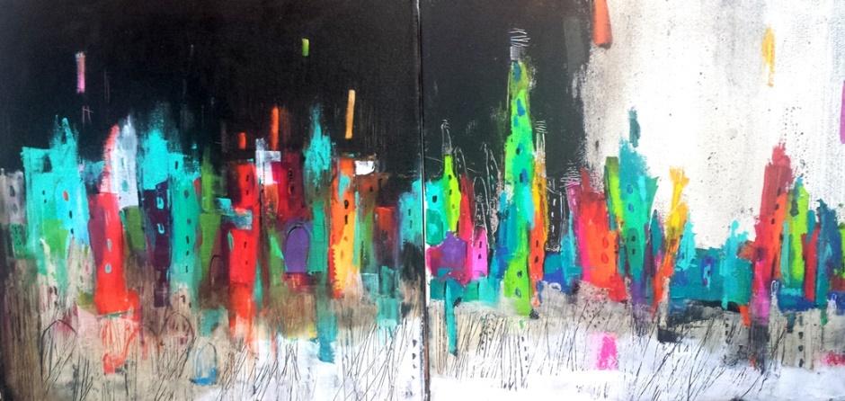 Scenery IV, 100cm x 50cm