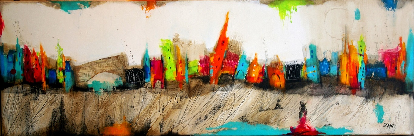 The View I, 120cm x 40cm