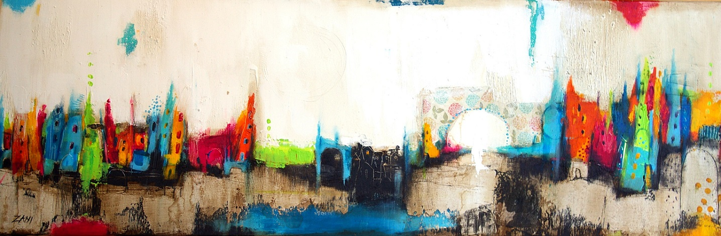 The View II, 120cm x 40cm