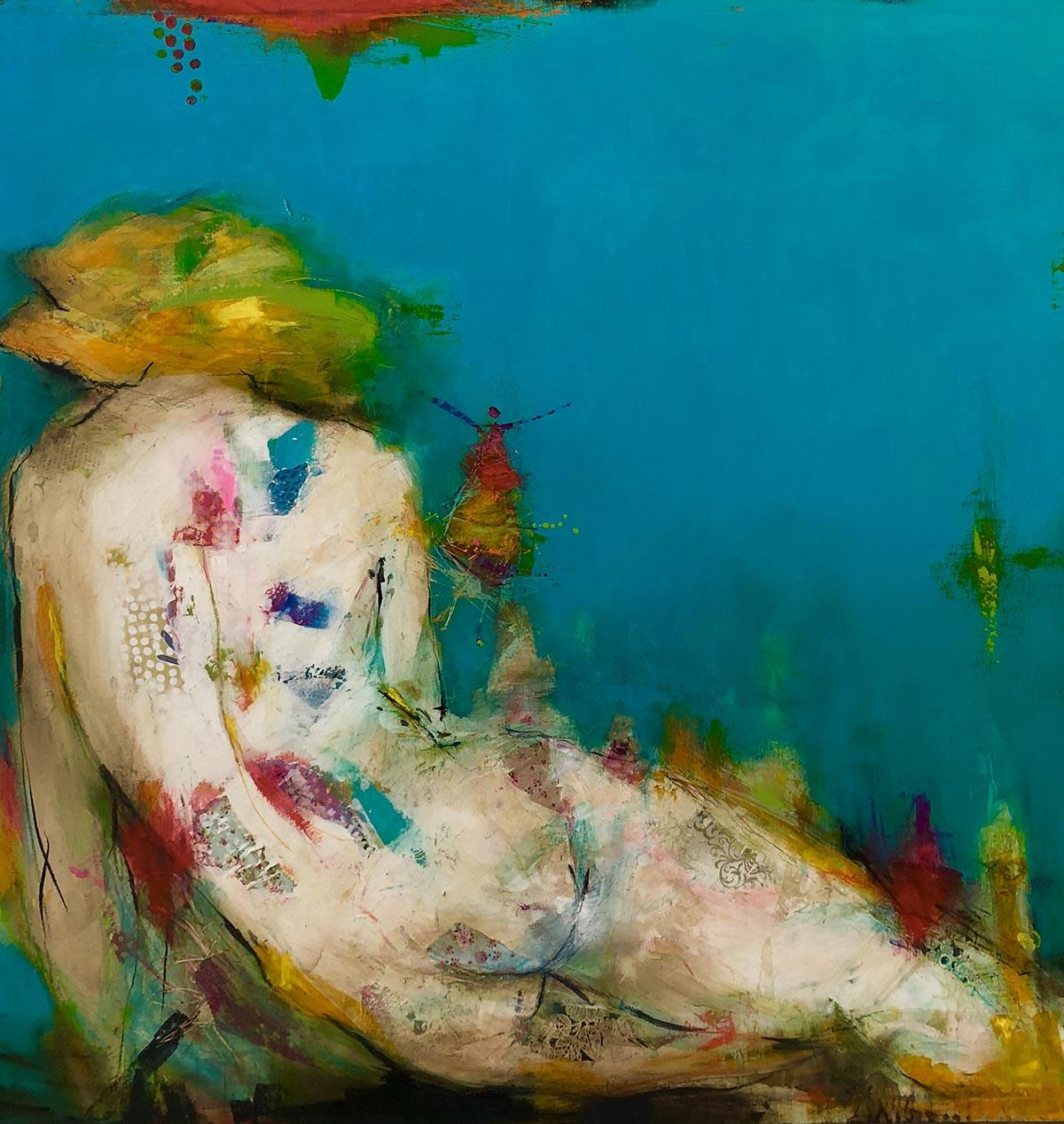 Woman, 80x80cm